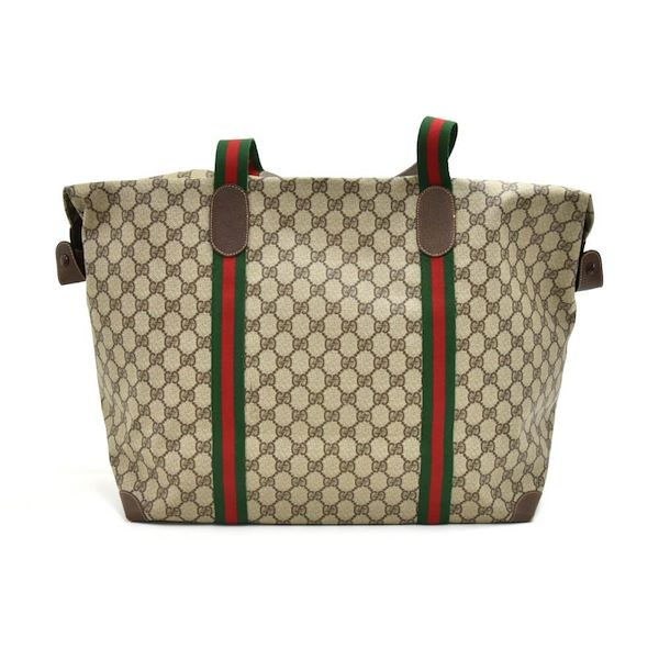 c0ac600394db7d Vintage Gucci Accessory Collection GG Supreme Coated Canvas Boston ...