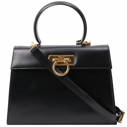 salvatore-ferragamo-gancini-plate-2way-handbag-black
