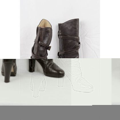 02a5876a6 chloe-heeled-boots-wrap-strap-size-39 ...