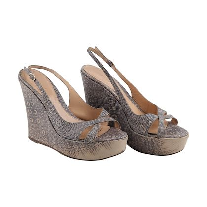 9bf972937b9c ... sergio-rossi-embossed-leather-wedges-shoes-size-40