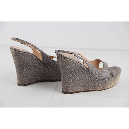 fc9158916 sergio-rossi-embossed-leather-wedges-shoes-size-40 ...
