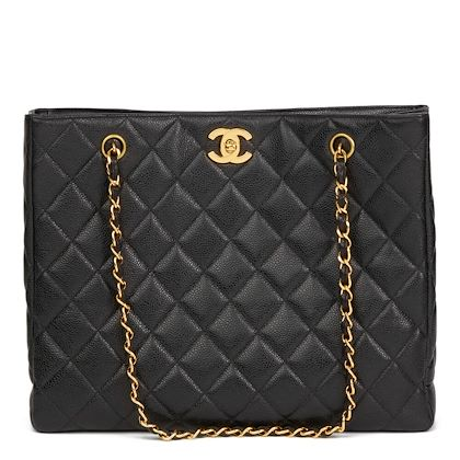 1a921fc32e8185 ... black-quilted-caviar-leather-vintage-classic-shoulder-bag- · Chanel