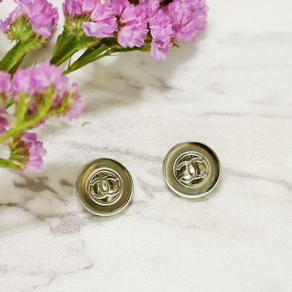 chanel-round-cutout-cc-mark-earrings-silver