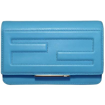 nwot-fendi-maldives-blue-tube-leather-clutch