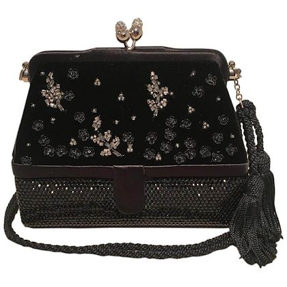 judith-leiber-black-velvet-beaded-swarovski-crystal-two-way-evening-bag-clutch