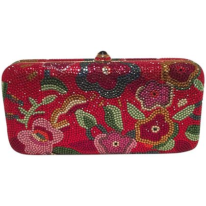 judith-leiber-red-swarovski-crystal-floral-print-minaudiere-evening-bag-clutch
