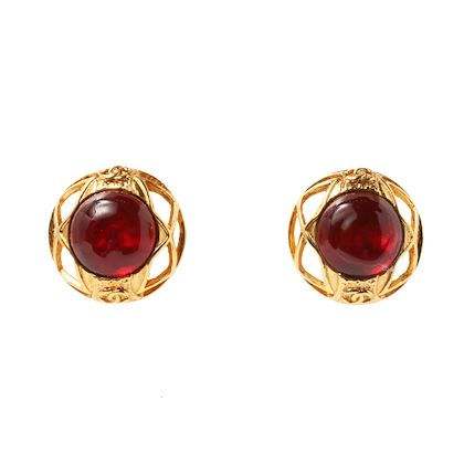 chanel-round-gripoix-cc-mark-earrings-red