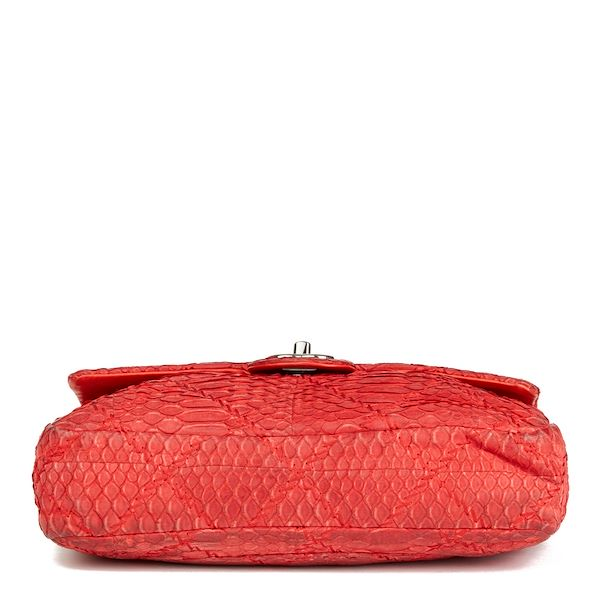 red-heavy-stitch-quilted-python-leather-classic-single-flap-bag