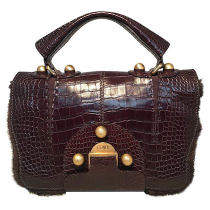 rare-limited-edition-fendi-brown-alligator-and-fur-satchel-handbag