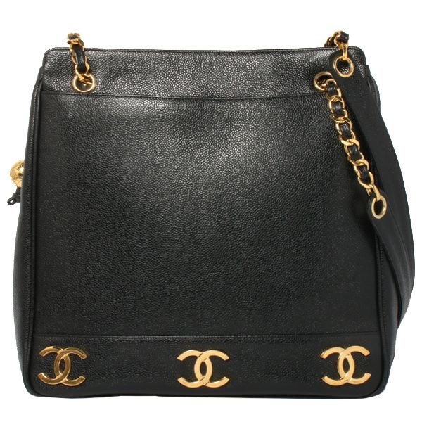 d4713b8fdfbb ... Tote Bag Black. chanel-caviar-leather-6-cc-mark-plate-ball-