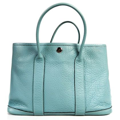 hermes-leather-light-blue-top-handle-bag-with-dust-bag-pre-owned-used