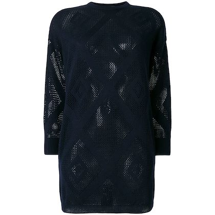 GIANNI VERSACE diamond net sheer jumper