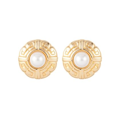 1980s-vintage-givenchy-logo-faux-pearl-clip-on-earrings
