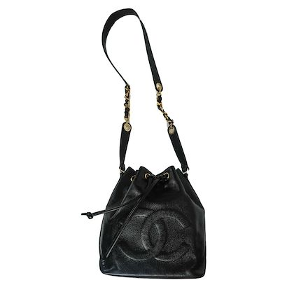 chanel-caviar-crossbody-large-cc-bucket-bag-wallet-black-leather-drawstring-pre-owned-used