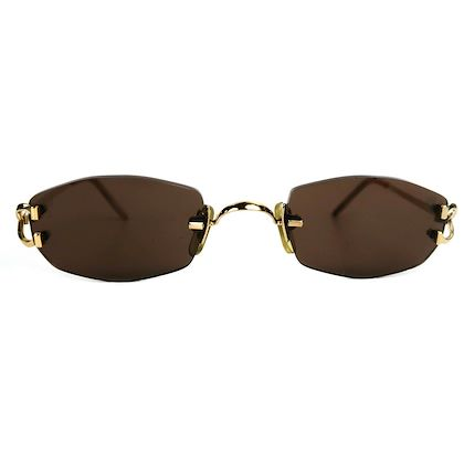 cartier-rimless-gold-vintage-sunglasses-135-pre-owned-used