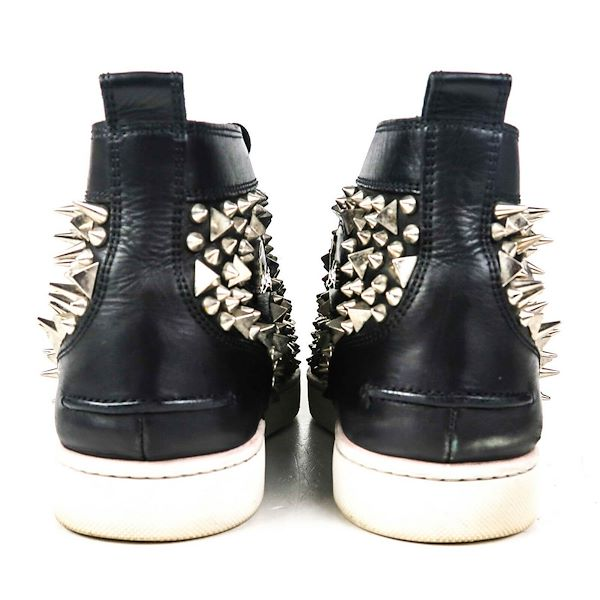 christian-louboutin-black-studded-high-top-lace-up-sneakers-425-95-pre-owned-used