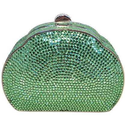 judith-leiber-green-swarovski-crystal-minaudiere-evening-bag
