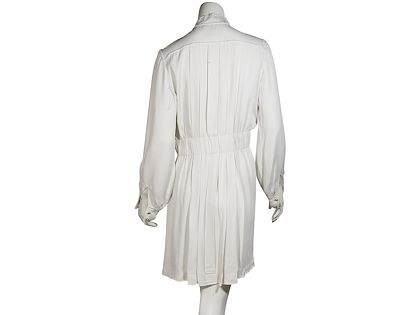 white-chanel-pleated-dress