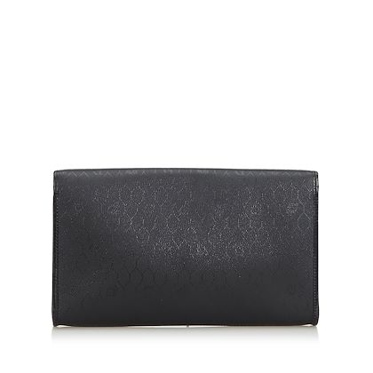black-christian-dior-honeycomb-coated-canvas-clutch