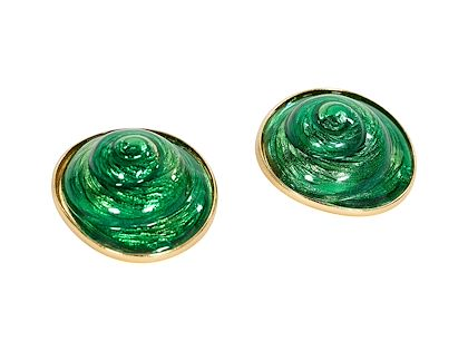 green-vintage-yves-saint-laurent-rive-gauche-earrings