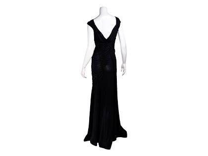black-alberta-feretti-ruched-gown