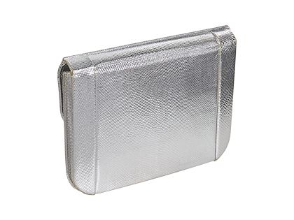 silver-vintage-jacomo-paris-lizard-clutch
