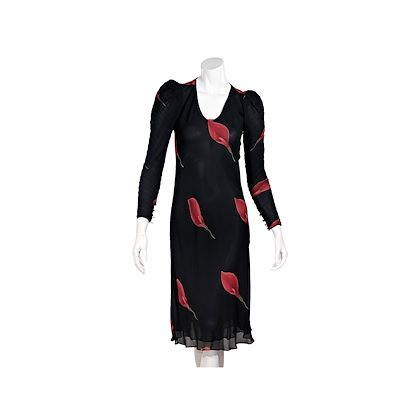 black-red-vintage-judy-hornby-couture-floral-dress