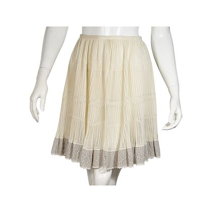 ivory-alaia-crochet-silk-blend-skirt