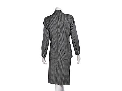 black-white-vintage-yves-saint-laurent-wool-skirt-suit-set
