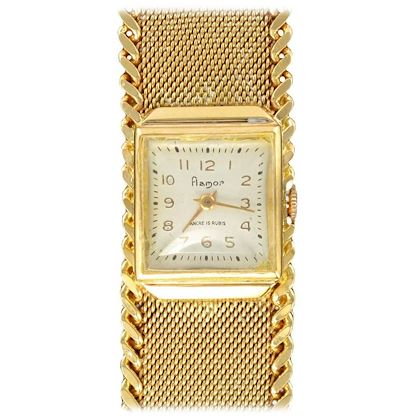 flamor-ladies-yellow-gold-manual-wind-wristwatch