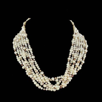 combination-pearl-necklace-and-1960s-diamond-brooch-clip