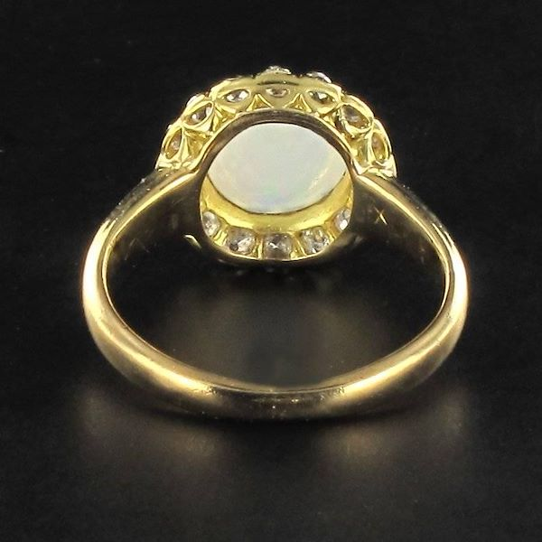 antique-cabochon-opal-diamond-gold-engagement-ring