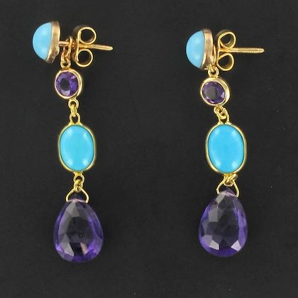 baume-amethyst-turquoise-gold-drop-earrings