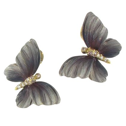 art-nouveau-style-enamel-diamond-gold-butterfly-stud-earrings
