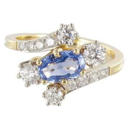 new-antique-style-sapphire-diamond-gold-platinum-ring