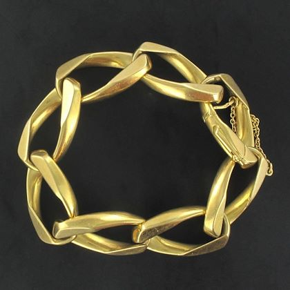 1970s-french-gold-chain-bracelet