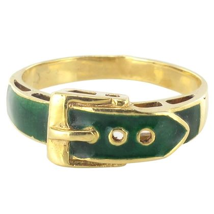 modern-french-green-enamel-gold-belt-ring