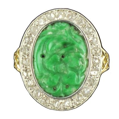 french-antique-jade-rose-cut-diamond-ring
