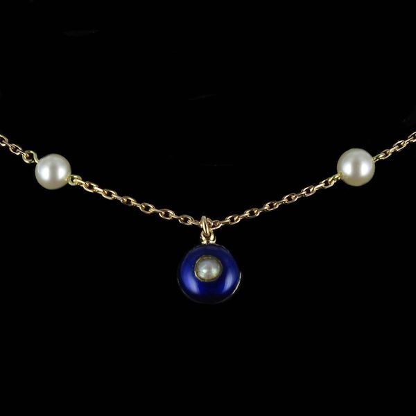 french-19th-century-pearls-lapis-lazuli-enamel-and-gold-necklace