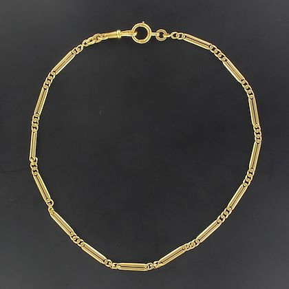 french-yellow-gold-antique-watch-chain-necklace
