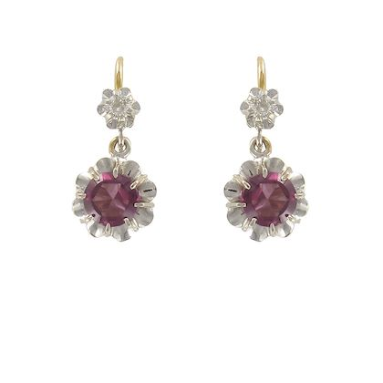 19th-century-french-garnet-diamond-two-color-gold-dangle-earrings