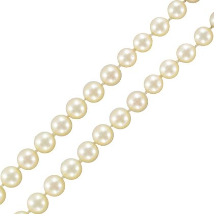 two-strand-japanese-cultured-round-white-pearl-necklace