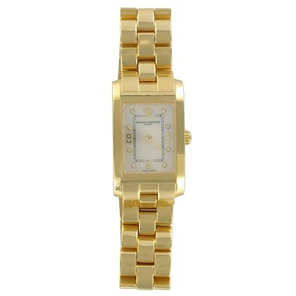 baume-mercier-ladies-yellow-gold-diamond-hampton-quartz-wristwatch