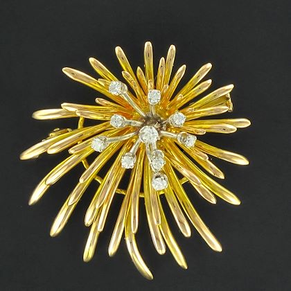 french-retro-diamond-gold-floral-brooch