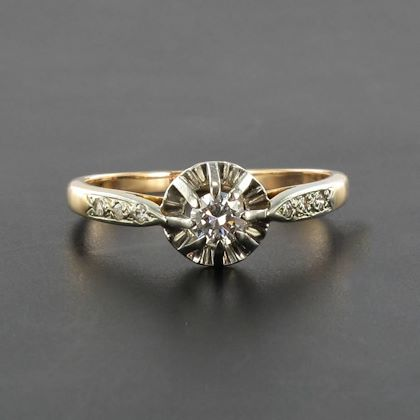 french-19th-century-diamond-rose-gold-solitaire-engagement-ring