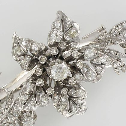 french-19th-century-flower-diamond-white-gold-silver-trembleuse-brooch