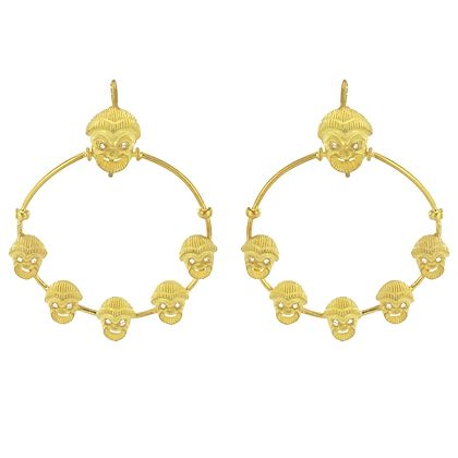 italian-matte-vermeil-crystal-mask-hoop-earrings