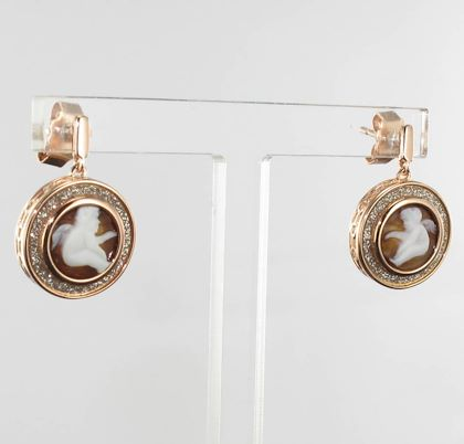 italian-romantic-style-angel-shell-cameo-crystals-earrings