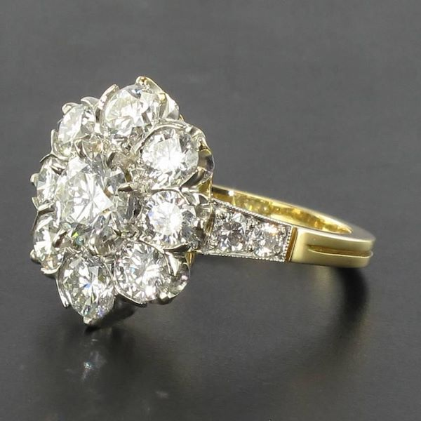 antique-french-diamond-daisy-cluster-engagement-ring