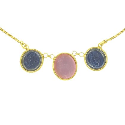 italian-antique-spirit-three-intaglio-yellow-vermeil-necklace